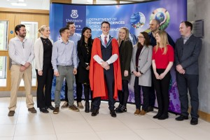 02/05/2019 Prof Kevin M Ryan pictured with former PhDs at his Inaugural lecture which took place in the Analog Building, University of Limerick. Don Moloney / Press 22