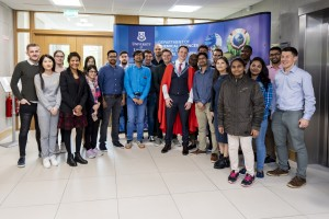 02/05/2019 Prof Kevin M Ryan pictured with PostDocs at his Inaugural lecture which took place in the Analog Building, University of Limerick. Don Moloney / Press 22